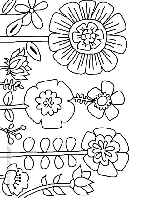 coloring pictures of wildflowers 12 images of parts of a plant coloring page parts of a