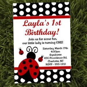 ladybug birthday invitations printable or printed