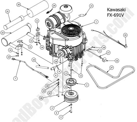 Kawasaki Lawn Mower Engine Parts by Bad Boy Mower Parts 2016 Compact Outlaw Engine
