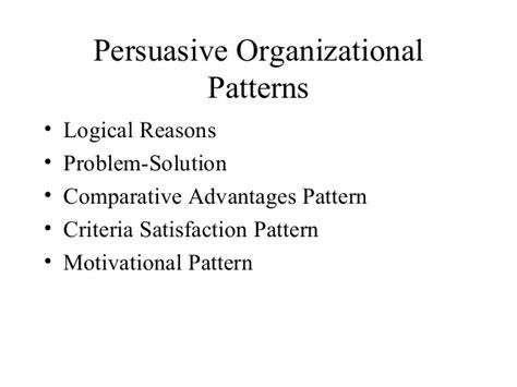 logical organizational pattern ari pregen all about persuasion