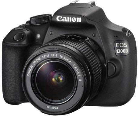 canon eos 1200d 18 mp, slr camera, black, 18 55mm lens