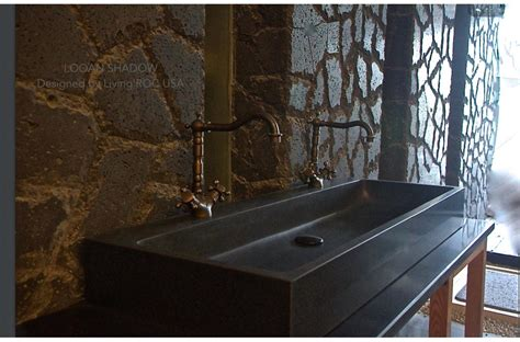 black granite in bathroom 47 quot double bathroom sink black granite stone trough looan