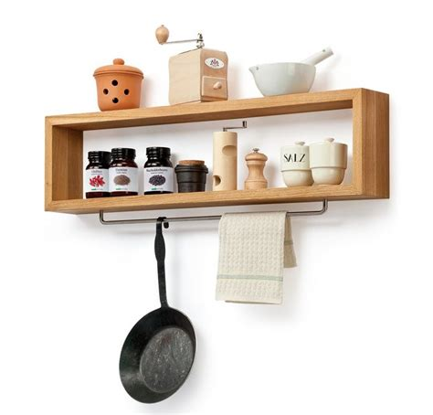 Kitchen Shelf diy wooden kitchen shelf with rail by