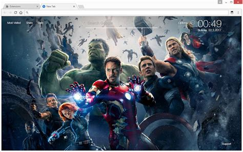 themes in superhero films marvel comics wallpapers hd new tab theme chrome web store