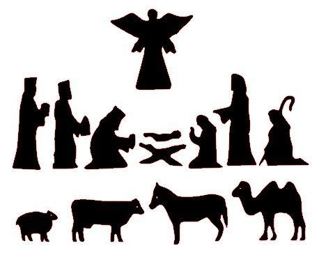 printable nativity stencils free silhoutte nativity scene patterns free nativity