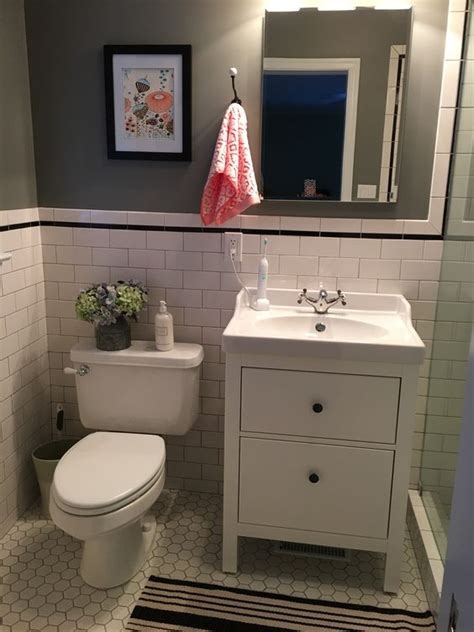 ikea small bathroom ikea hemnes bathroom vanity bathroom remodel pinterest