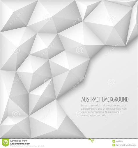 polygon pattern vector white 3d geometric abstract vector background with low