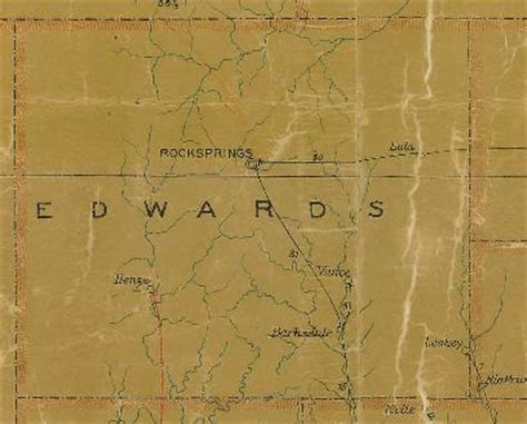 edwards county texas map edwards county texas