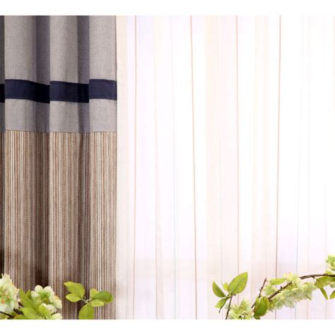 taupe striped curtains blue and taupe striped jacquard linen cotton blend funky