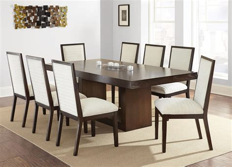 dining room sets for 8 people steve silver antonio side chair with beige chenille