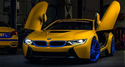 modified bmw i8 colorful modified bmw i8 by turner motorsport is up for sale