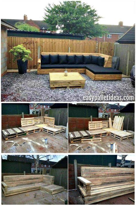 L Shaped Pallet by Tutorial Pallet L Shaped Sofa For Patio Easy