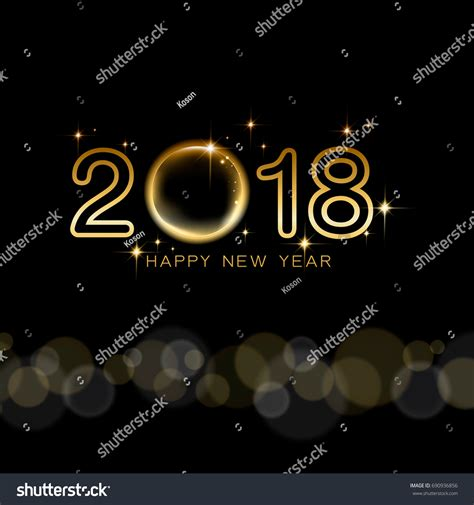 happy new year 2018 text happy new year 2018 text design stock vector 690936856