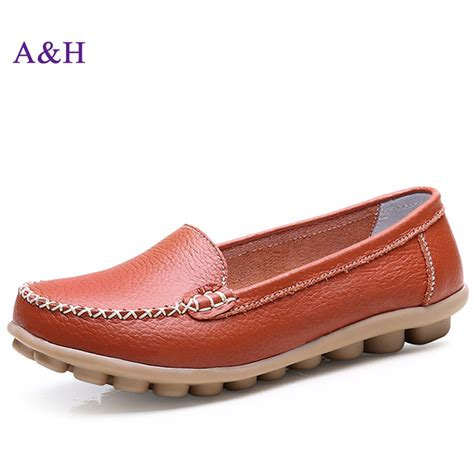 most comfortable loafers for women new fashion genuine leather shoes woman comfortable casual