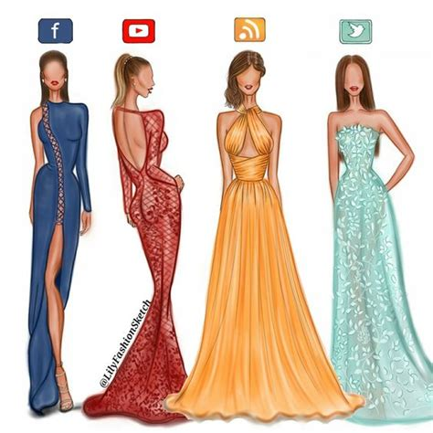 Dress Meida social media in haute couture dresses by zuhair