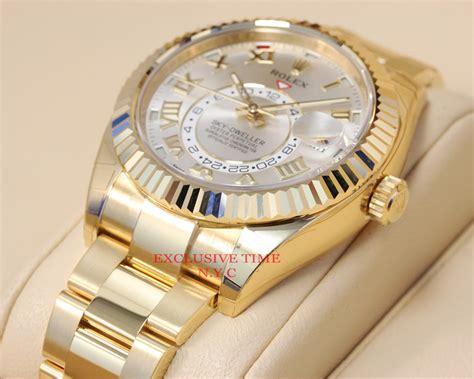 Rolex Ro147 Yellow Silver rolex sky dweller silver sunray gmt 18k yellow gold 326938 3459385693630 ebay
