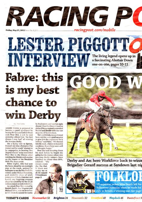 racing post rfo racing post issues key information supplied to us by the racing post on friday may 27th 2011