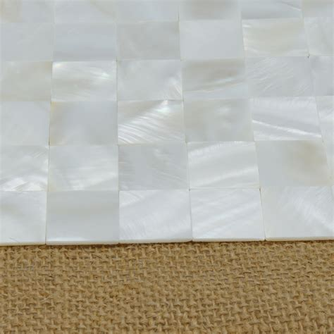 mother of pearl shell white square seamless mosaic tile 12 quot x12 quot