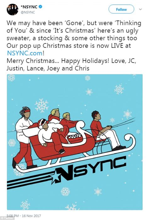 nsync christmas merch sells   hours daily mail