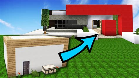 minecraft improve your house build tips youtube minecraft box to modern house transformation tutorial