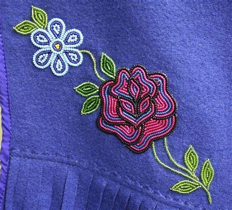 beadwork on fabric floral beadwork floral bead design on a