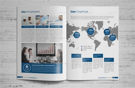 annual report brochure indesign template 3 by janysultana