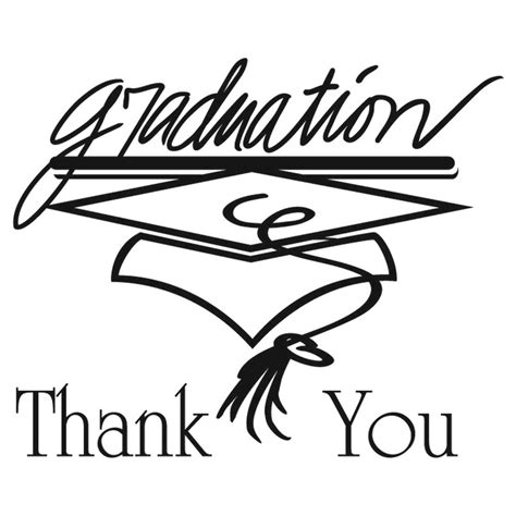 Mba Graduation Thank You Notes by Graduation Thank You Note Cards Black