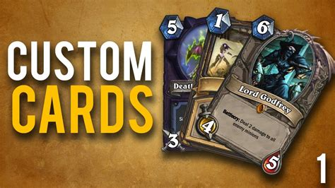 make a hearthstone card custom hearthstone cards ep 1