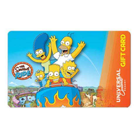 Gift Card Universal - your wdw store universal collectible gift card the simpsons ride