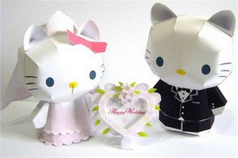 Wedding Papercraft - crafts models and paper on