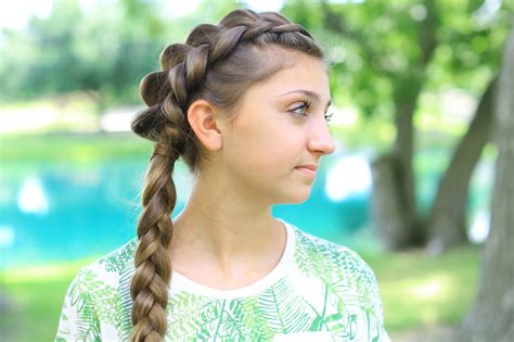 dutch braid back to school hairstyles side dutch braid combo cute girls hairstyles