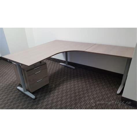 ikea galant l desk ikea galant grey woodgrain l suite desk w matching