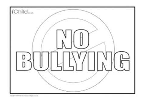 Anti Bullying Poster Ichild Anti Bullying Poster Templates