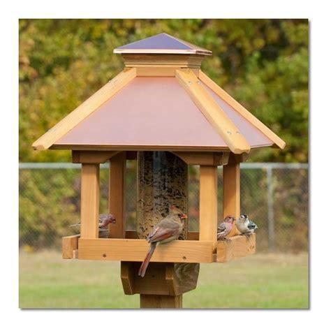 Wooden Bird Feeders Coppertop Wood Gazebo Bird Feeder Woodlink