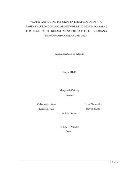 thesis abstract sa filipino thesis sa filipino