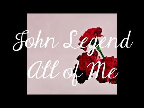 Wedding Song Legend by All Of Me Legend A Can
