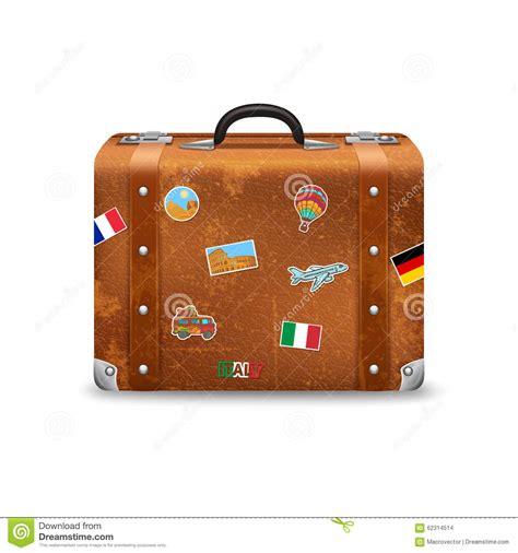 Koffer Sticker Berlin by Vieille Valise Avec Des Autocollants De Voyage