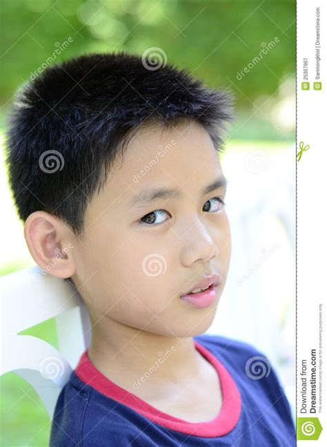 close  demeanor  thai boy stock image image  business care
