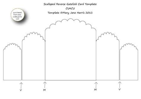 gate fold single card template scalloped gatefold card template cu4cu