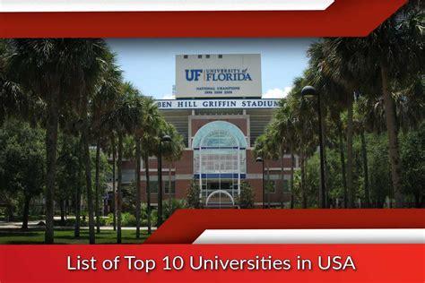 best us universities list of top 10 universities in usa