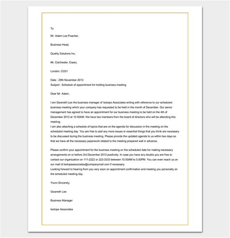 Appointment Letter As A Business Appointment Letter 20 Sles Exles Formats