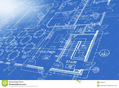 How To Draw Stairs In A Floor Plan blue print plan stock images image 6916494