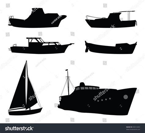 dessin bateau silhouette boat silhouette stock vector 98314493 shutterstock
