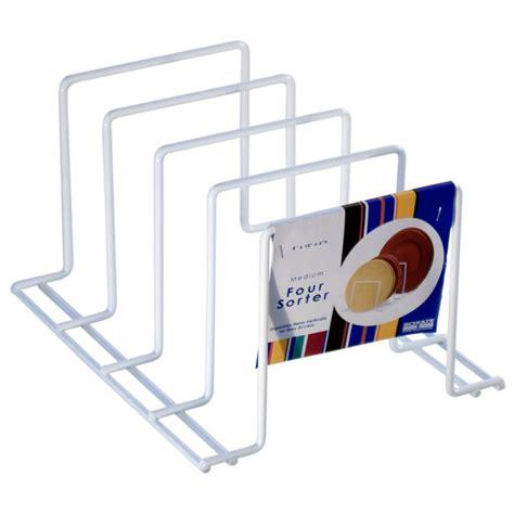 kitchen cabinet plate organizers kitchen plate rack in cookware storage