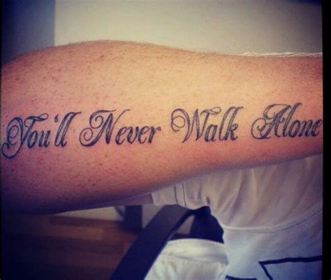 you ll never walk alone tattoo ynwa tattoos i like tattoos and
