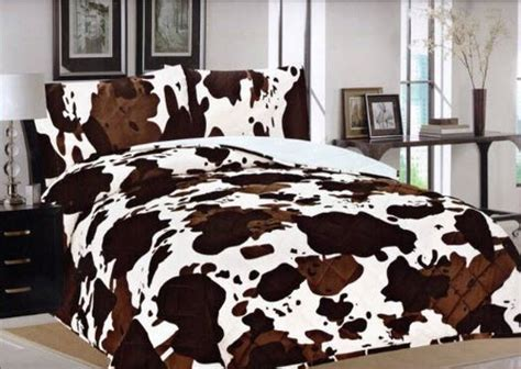 cow print comforter cow print bedspread whereibuyit com