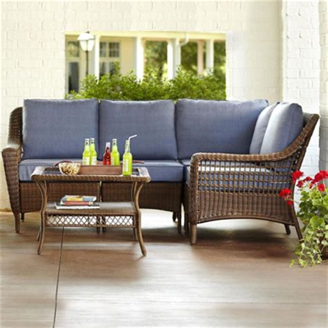 wicker furniture patio wicker patio furniture sets the home depot