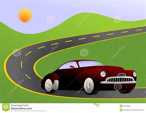 Cars New Road by Car On Road Stock Vector Image Of Images Illustration