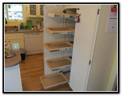 pull out cabinet shelves lowes sliding pantry shelves lowes home design ideas