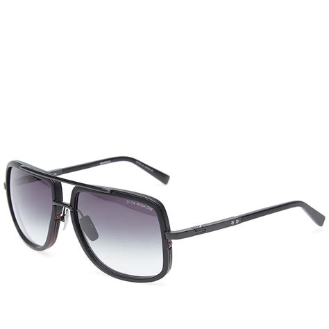 dita mach one sunglasses matte black grey